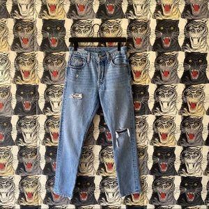 Levi's 501 distressed skinny jeans